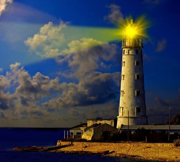 vuurtoren-licht-wolken-beam-op-zee-view-led-canvas-canvas-wall-art-zeegezicht-schilderen-uitgerekt-art